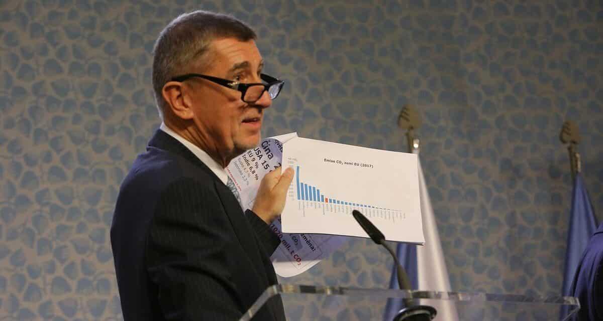 Babiš se vyslovil pro stanovení horní hranice ceny emisních povolenek